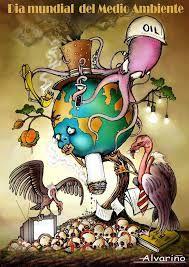 Dibujos Del Medio Ambiente Para Ni Os De Primaria A Color Environmental Art Environment Painting Meaningful Art