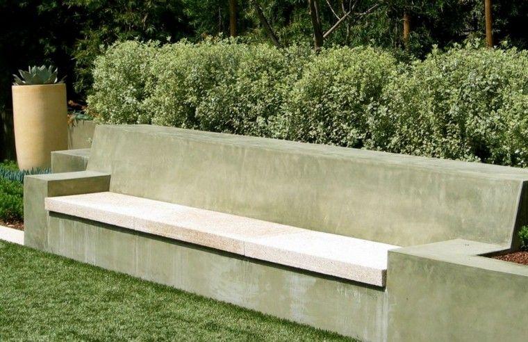 Bancos y gradas para el jard n veinticinco ideas - Banco para jardin exterior ...