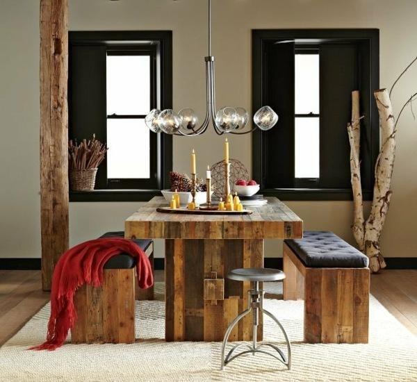 meuble palette dans la salle manger table et blancs lgants