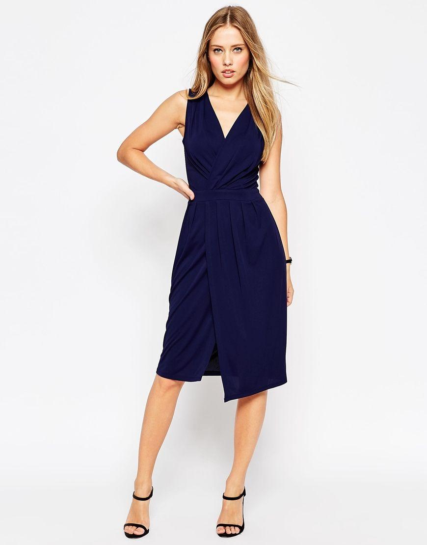 Image 1 of ASOS Blouson Wrap Sleeveless Jersey Dress   Fashionistic ...