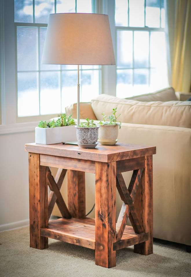 Amazing Reclaimed Wood Custom Built End Table In Pittsburgh.