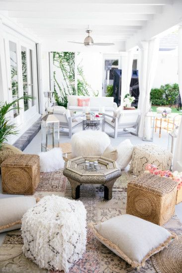 Boho Chic Inspired Baby Shower Seating Area Cozy And Comfortable Bday Pinterest Moroccan Design