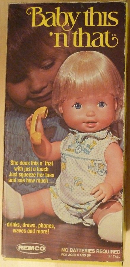 Remco 1976 Baby This N That Doll Vintage Toys