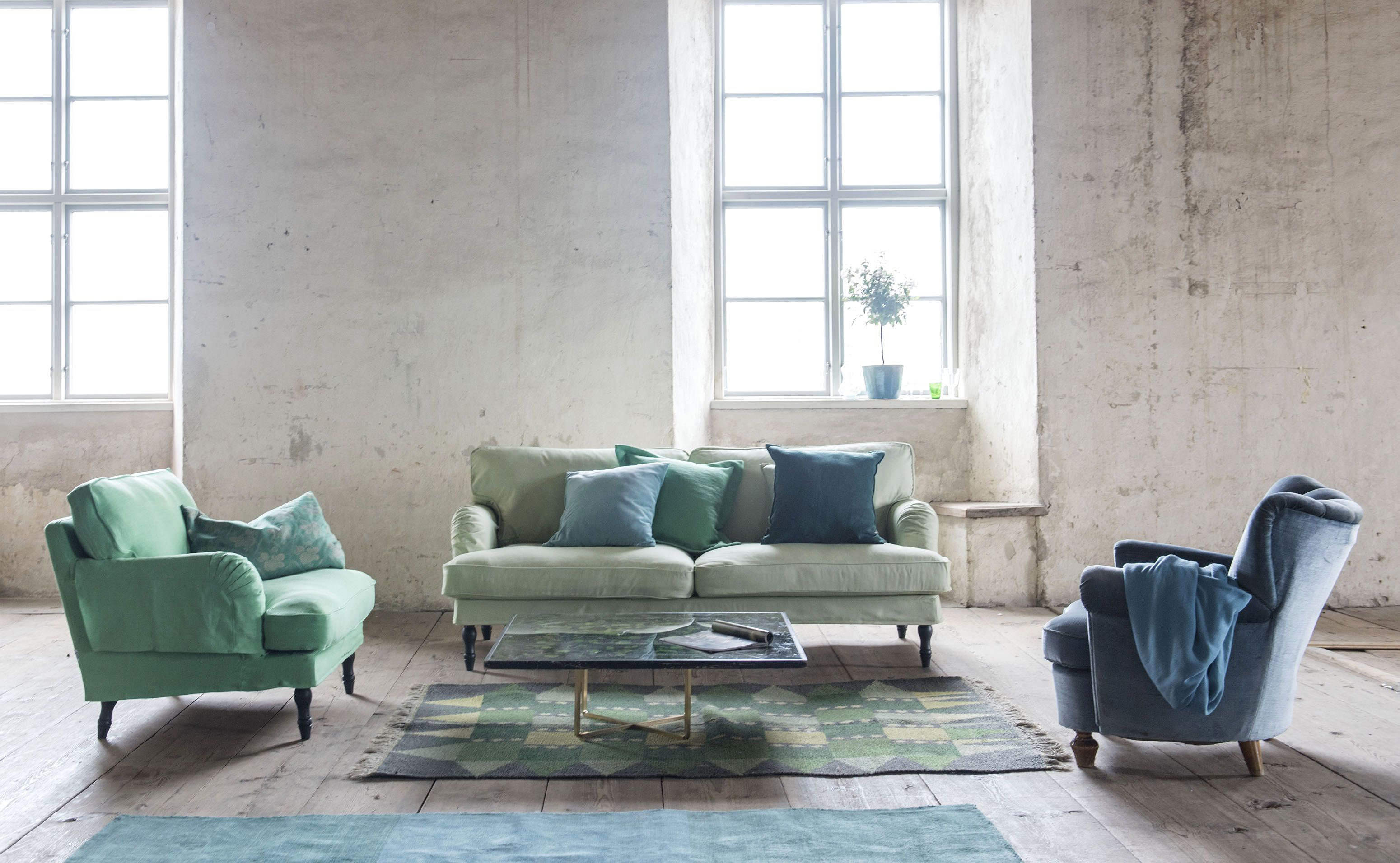 Tones Of Green Stocksund Armchair Cover In Verdigris Brera Lino New Small Circle Blue 3 Seater Sofa Tea Panama Cotton Cushion Covers Mineral