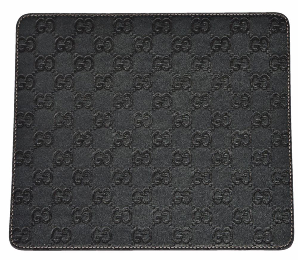 053c4e8931b4 NEW Gucci 197216 Dark Green GG Guccissima Leather Mouse Pad #Gucci ...