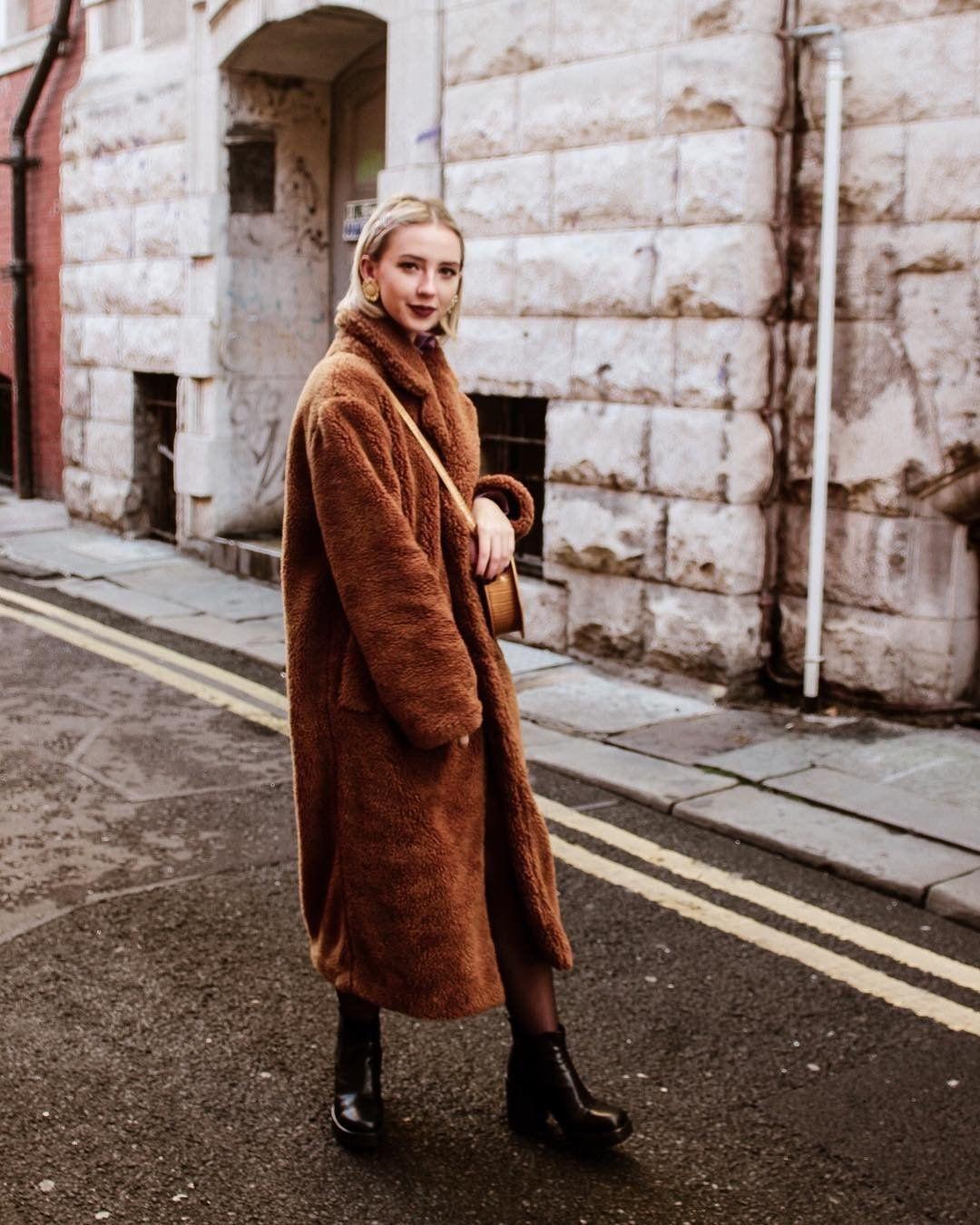 UO Long Tan Teddy Coat in 2019 | Teddy coat, Coat, Urban