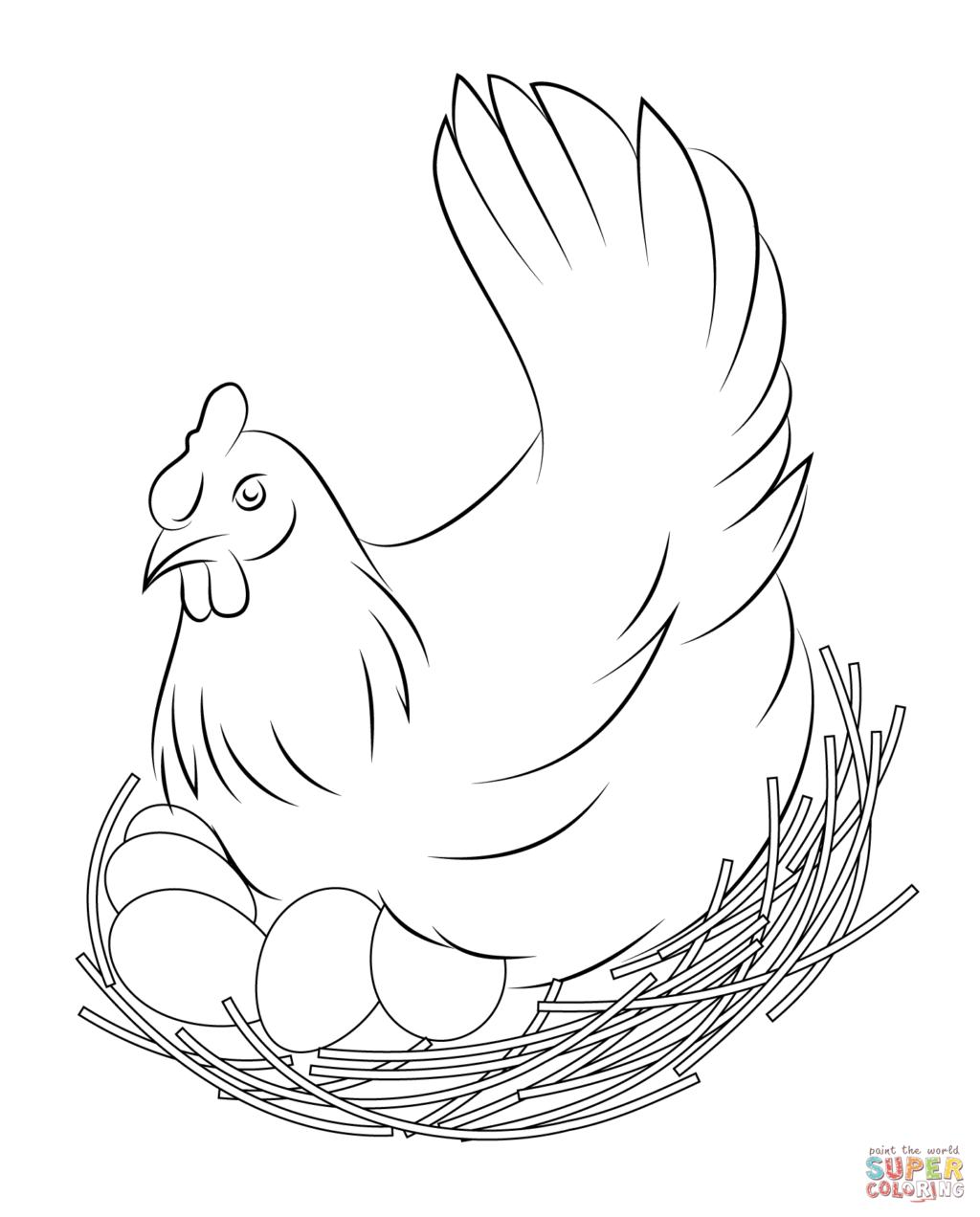 chicken free coloring pages  chicken coloring pages bird