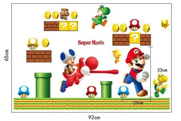 Super Mario Bros Removable Wall Stickers