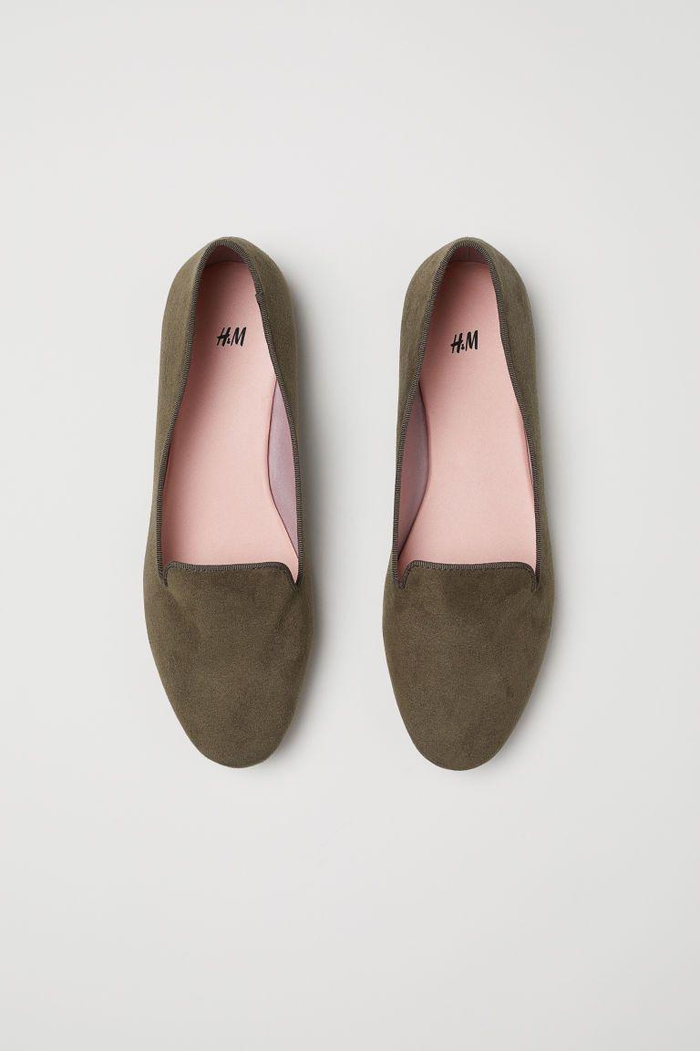 fa37a0f0f88 Loafers - Dark khaki green - Ladies
