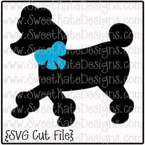 Poodle with Bow SVG