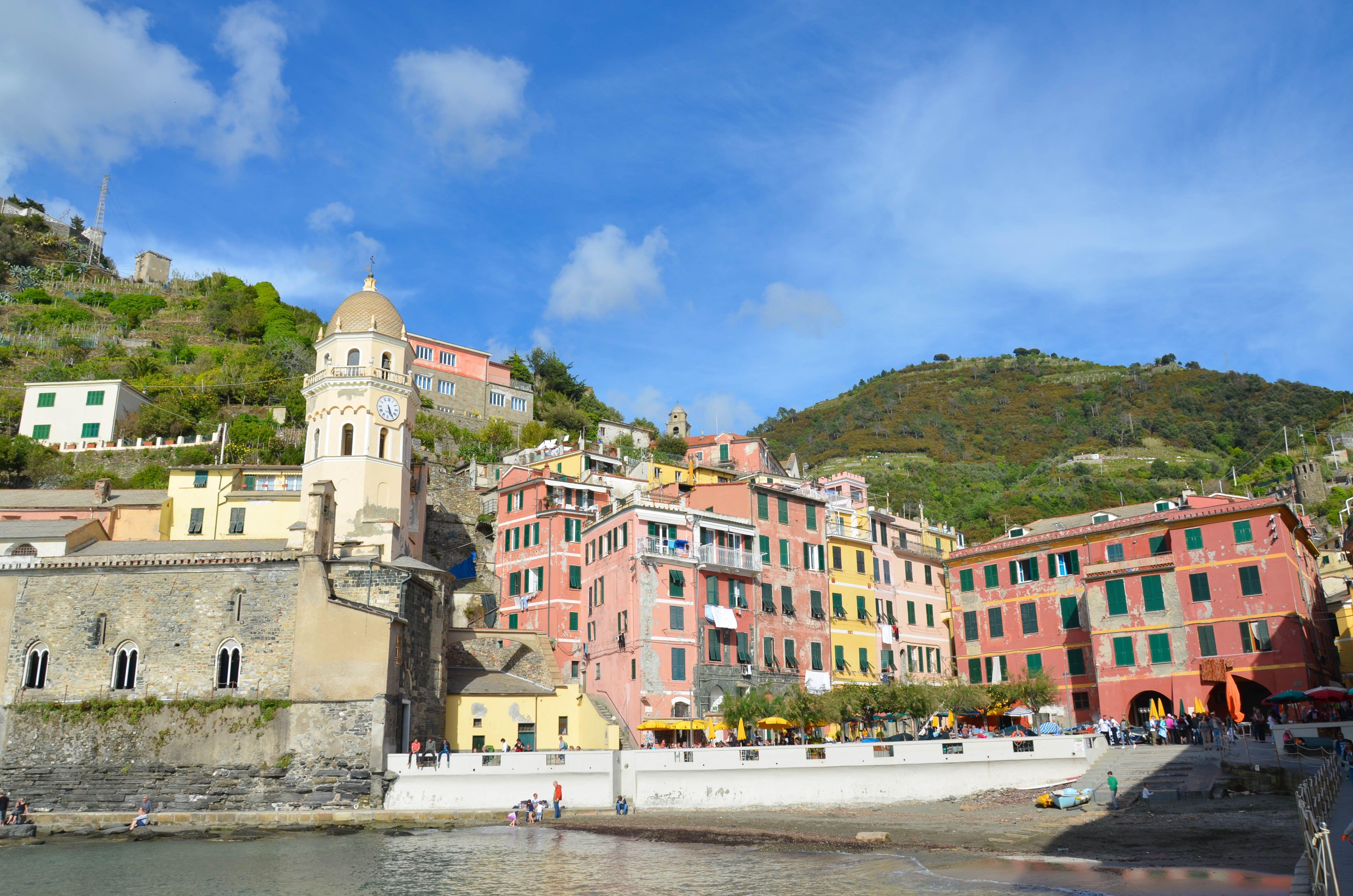 Vernazza Cinque Terre Italy Ligurian Coast National Parc Sea