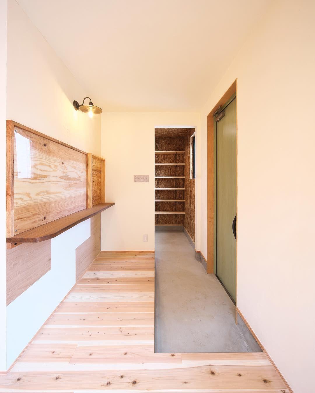Minimaru Design On Instagram 個性的な玄関カウンターと鍵置き場