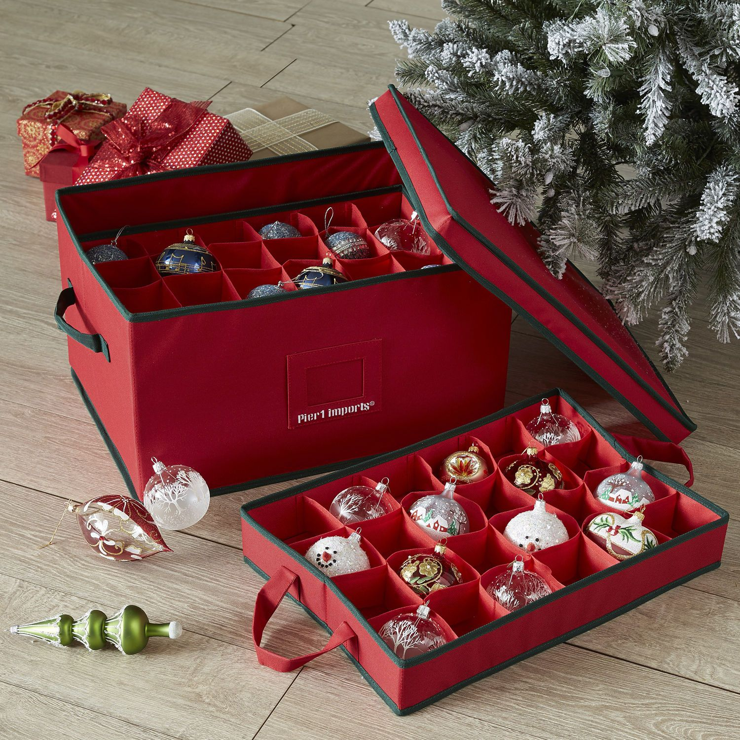 box ornament storage - Christmas Decoration Storage Containers