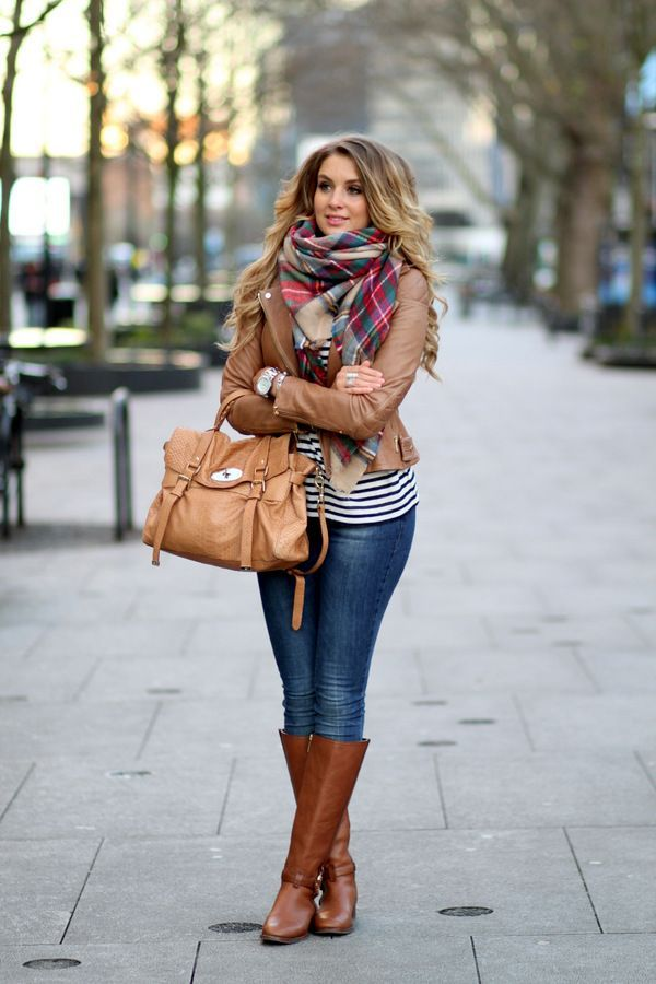How to Wear Your Leather Jacket this Winter | Brown leather ...