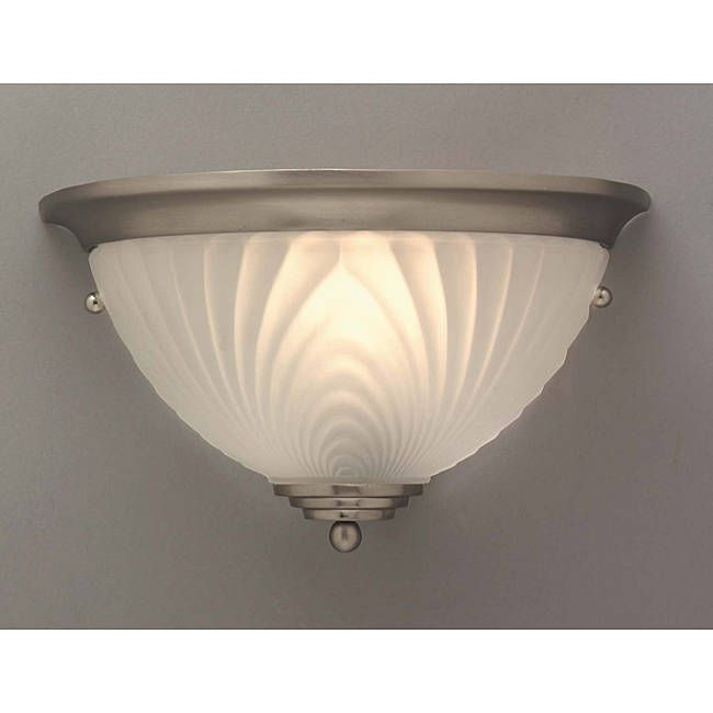 Aztec lighting transitional 1 light brushed nickel wall sconce clear glass