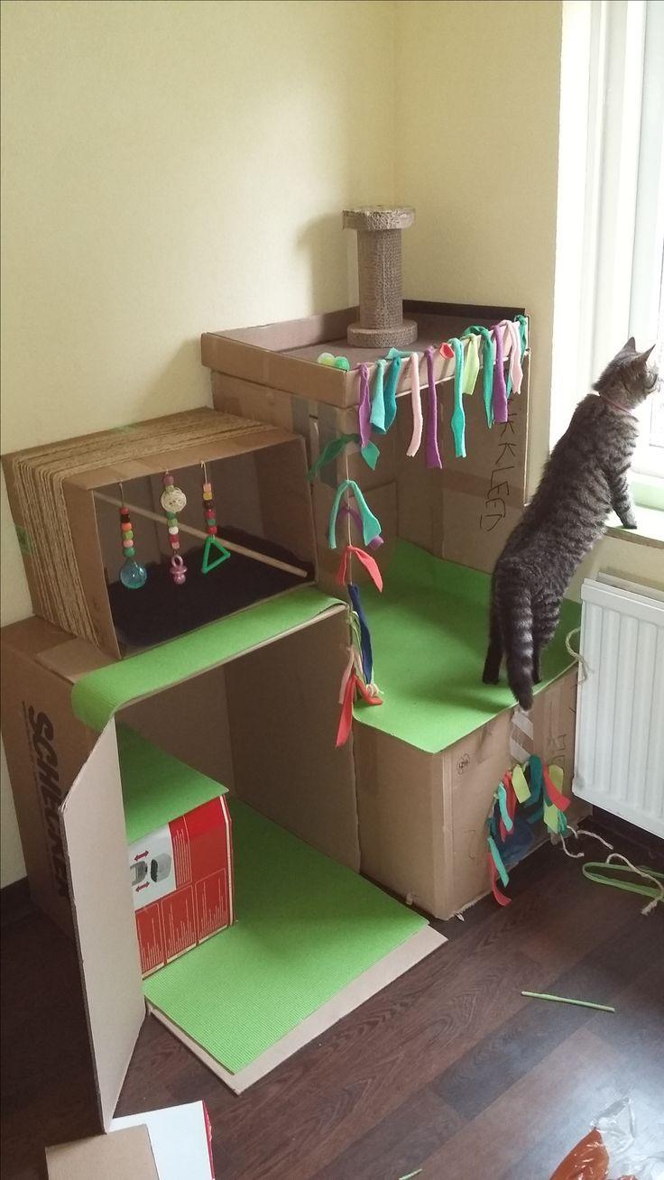 Cuccia Gatto Fai Da Te diy cardboard cat castle for our sweetest girls <3 | mobili