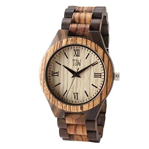 Image result for TJW Men's Natural Wooden Analog Quartz Watch