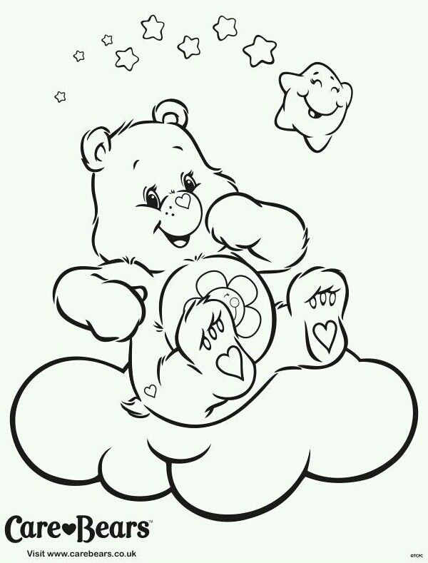Pin By Claire On Care Bear Harmony Bear Care Bears Coloring Pages Coloring Books Bear Coloring Page