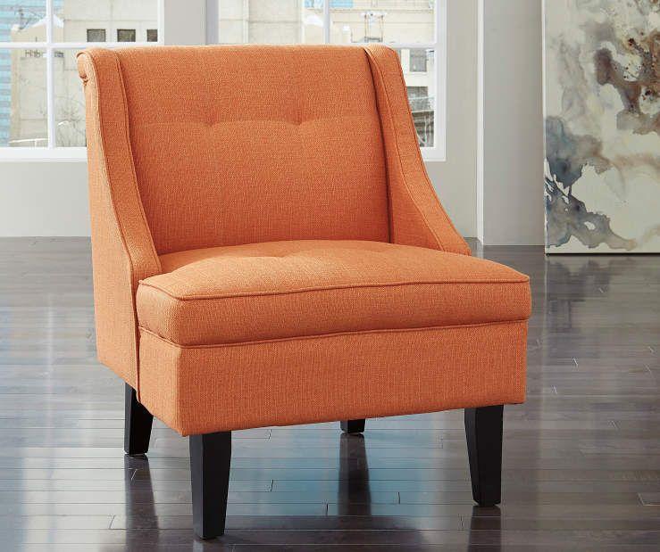 Best Signature Design By Ashley Clarinda Orange Accent Chair 400 x 300