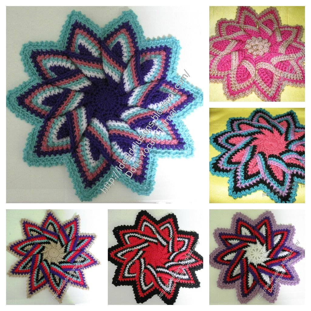 BASIC TRIVETPATTERN     This is an amazing stashbuster and the color changes in this pattern   are what make each trivet unique.   ...