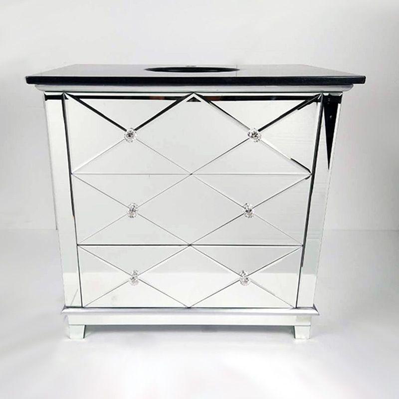 Meuble façade miroir, plan-vasque marbre noir, 80cm, Cottage Pinterest