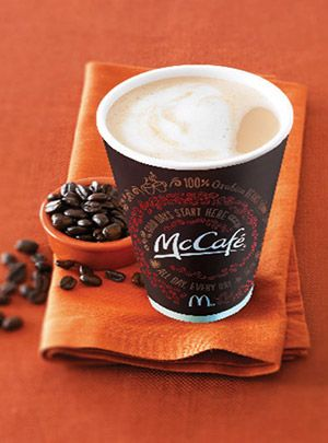McCafé coffee trying to compete with Starbucks as a daily destination. McD's has great coffee!