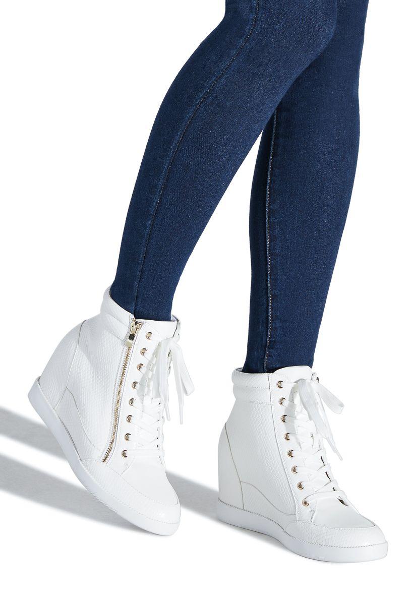 White wedge sneakers, Wedge sneaker