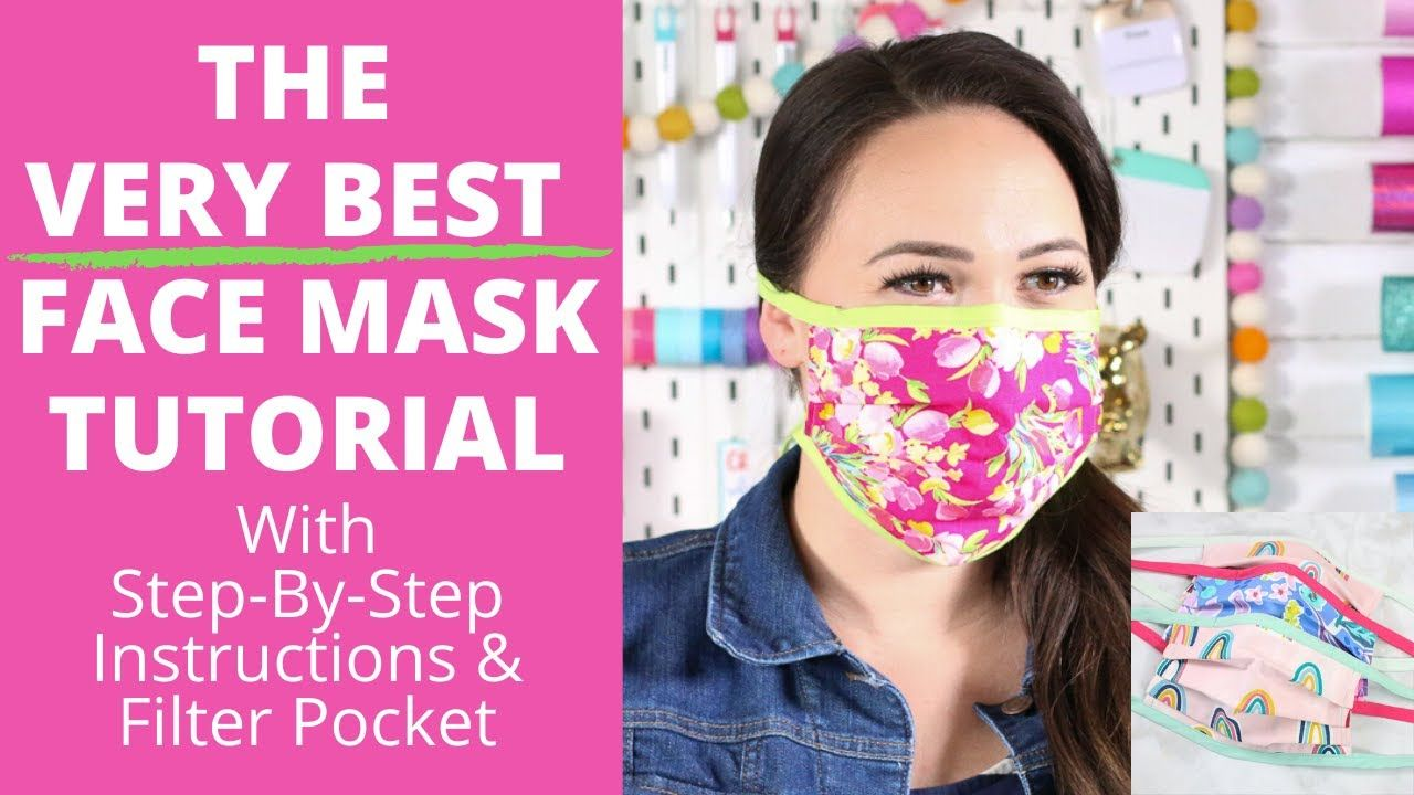 Diy Best Fabric Face Mask With Filter Pocket And Flexible Nose