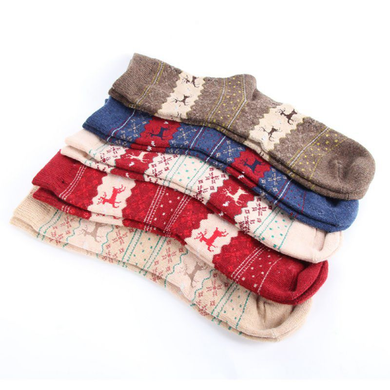 1 Pairs Women Wool Cashmere Warm Soft Thick Casual Multicolor Winter Tube Socks Tube Socks Socks Cashmere