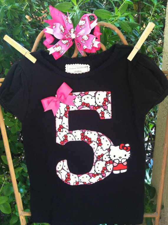 Hello Kitty Birthday Shirt By CHPretties On Etsy 2000