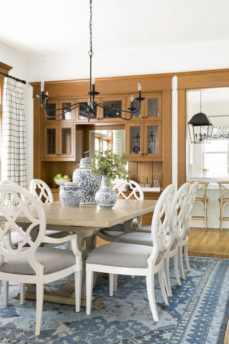 Masculine Moody Meets Light Airy In This Lovely Home Tour Lark Linen Hometour Cottage Dining Rooms Dining Table White Wood Dining Chairs