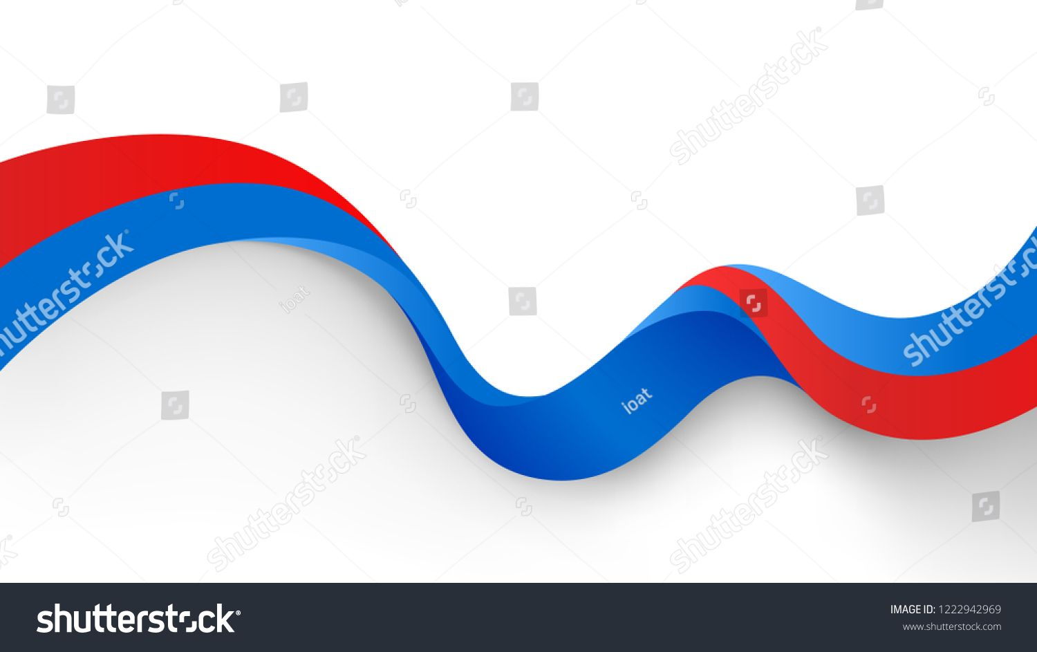 Red Blue Motion Sound Wave Abstract Vector Background Motion