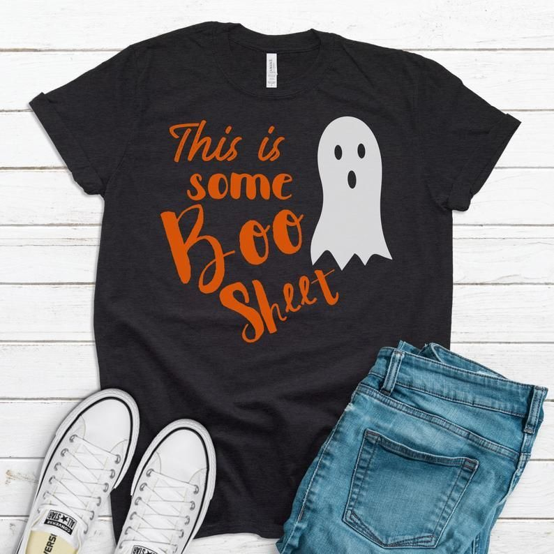 Halloween shirt Boo sheet shirt Spooky ghost Funny Etsy