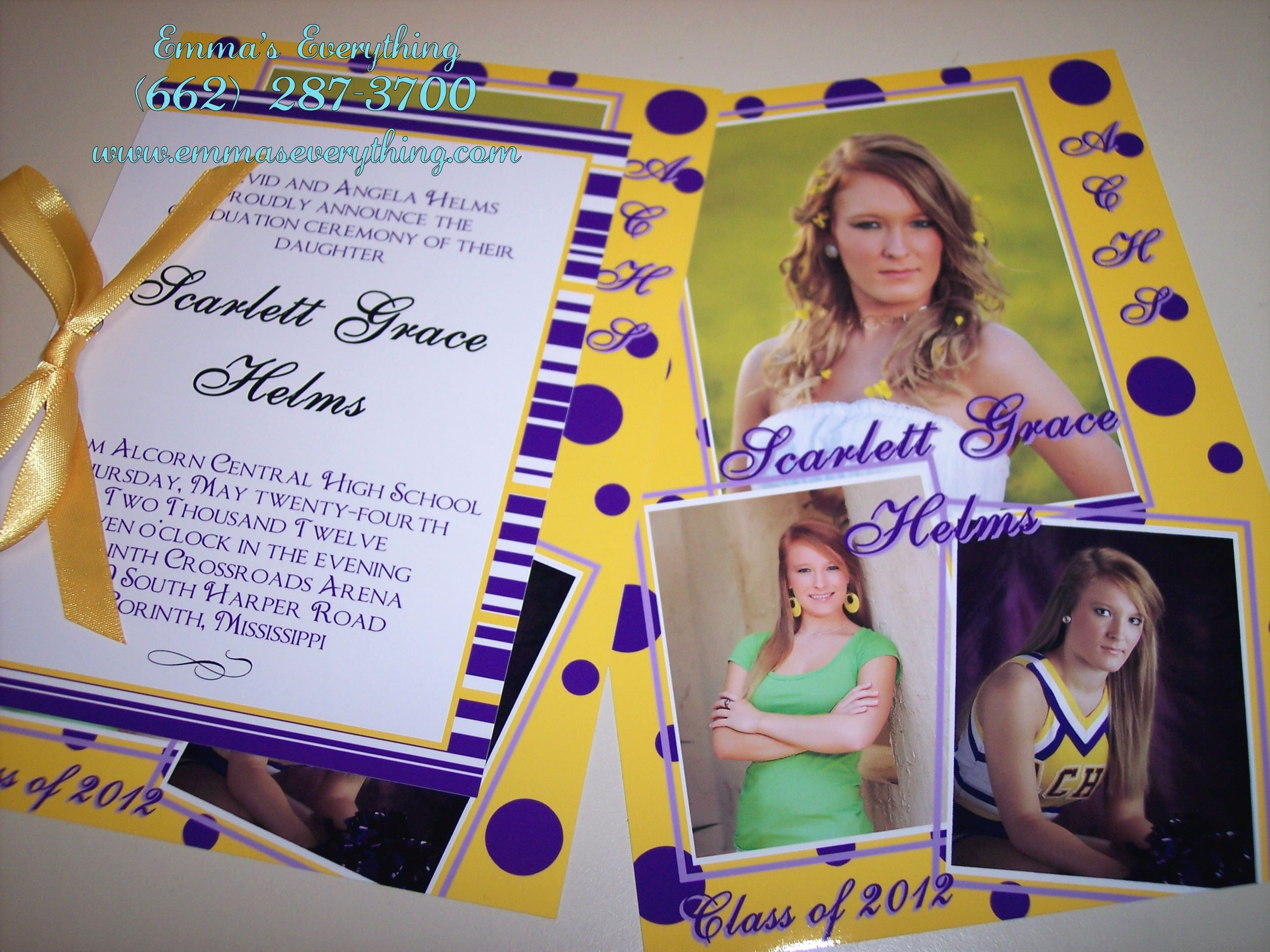 Layered Photo Graduation Invitations