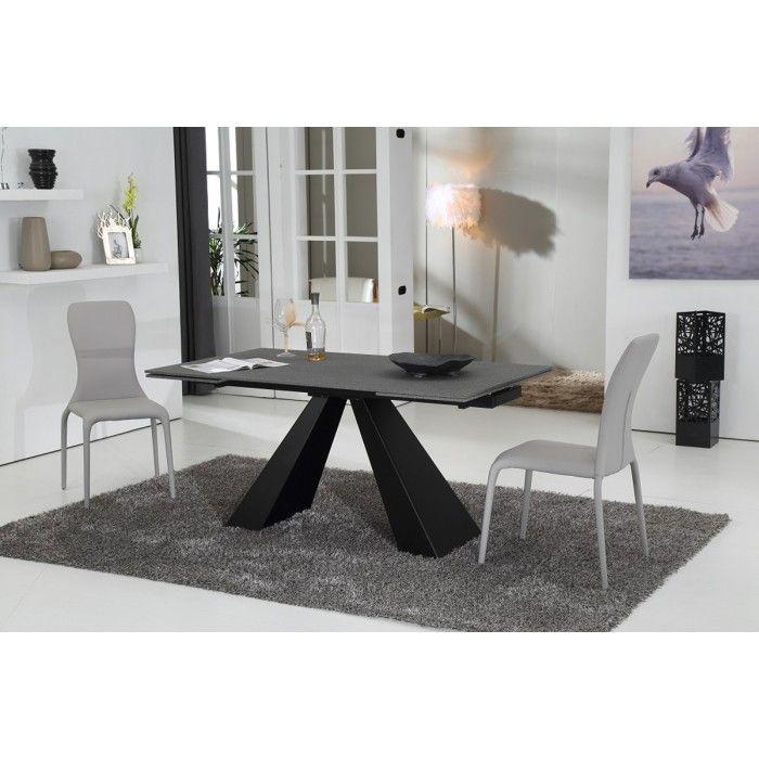 Modrest Grant Contemporary Concrete Glass Extendable Dining Table Captivating Contemporary Kitchen Tables Design Ideas