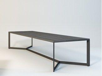 Mesa de comedor rectangular de madera EVOKE - ENNE