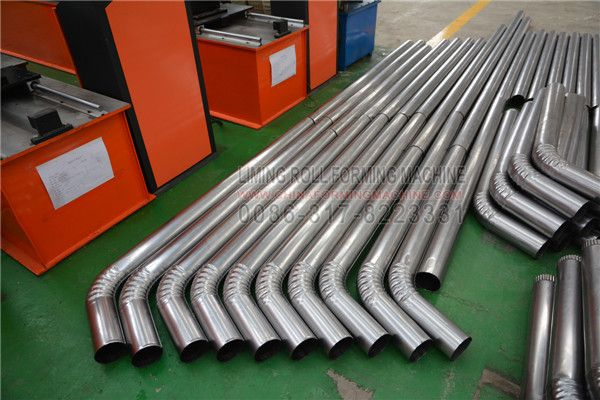 Pin On Round Pipe Downspout Sheet Roll Forming Bending Machine