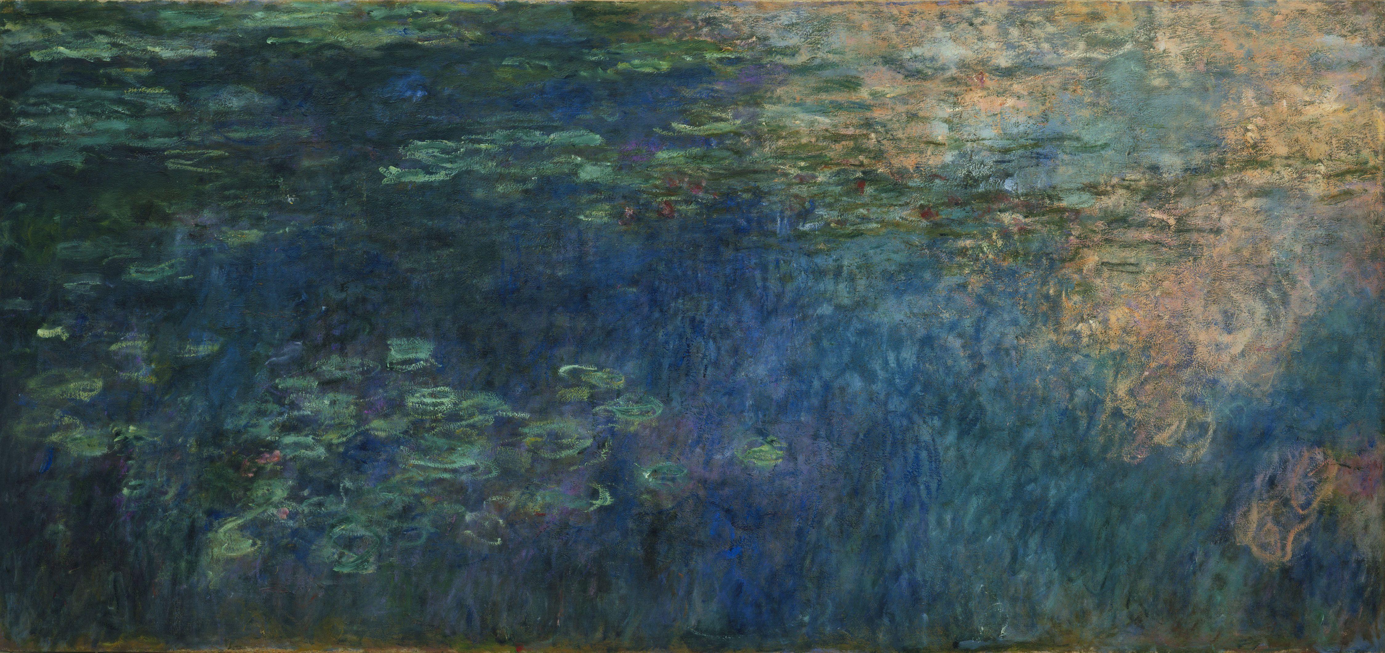 Monet Reflexiones De Nubes En El Estanque Nenfares 1920 Museum Of Modern Art York