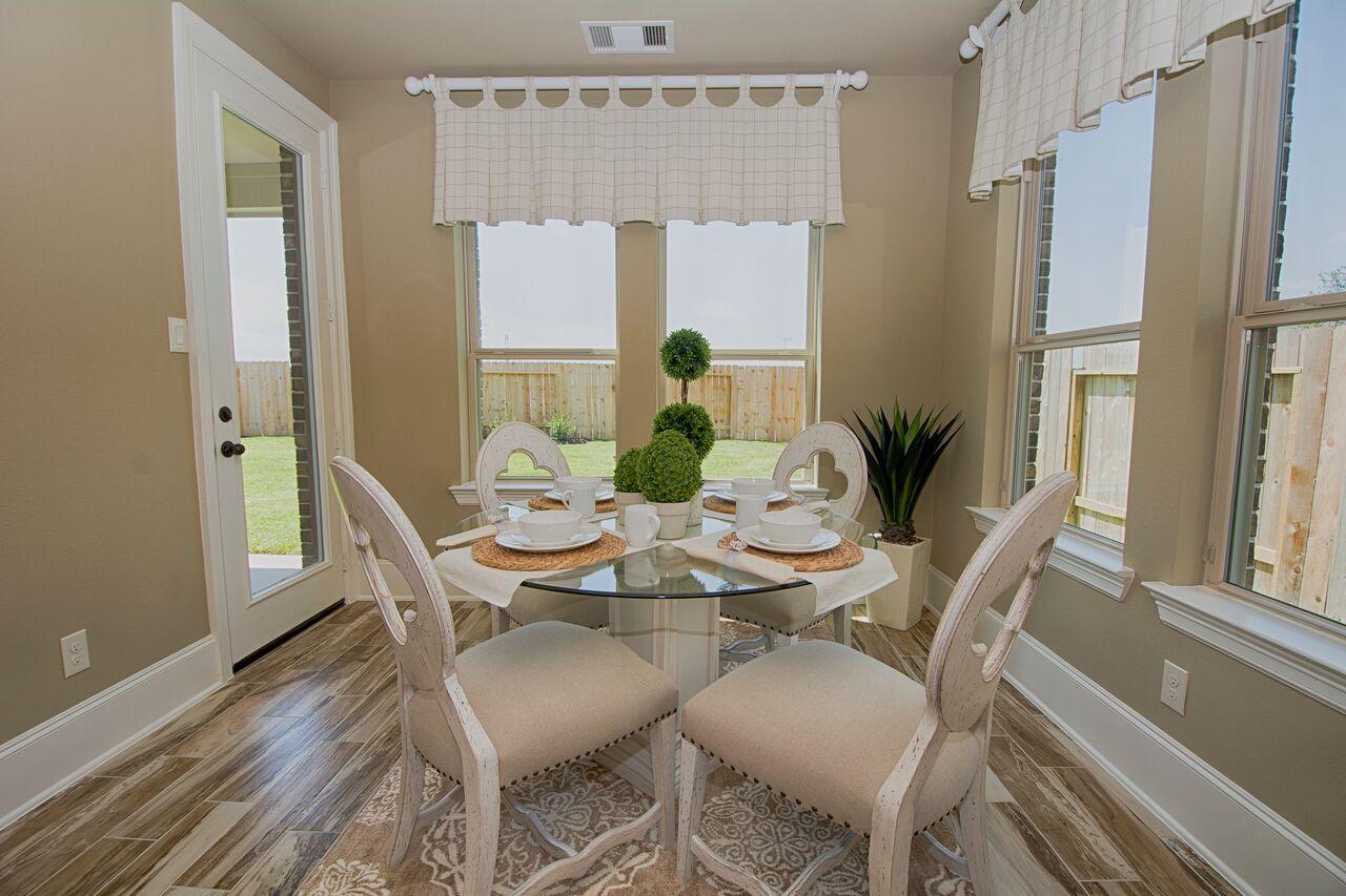 Westin Homes   Houston Home Builder   The Preston Floorplan   Breakfast  Nook   New Homes