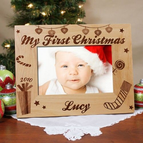 My First Christmas Personalized Baby Picture Frames Personalized