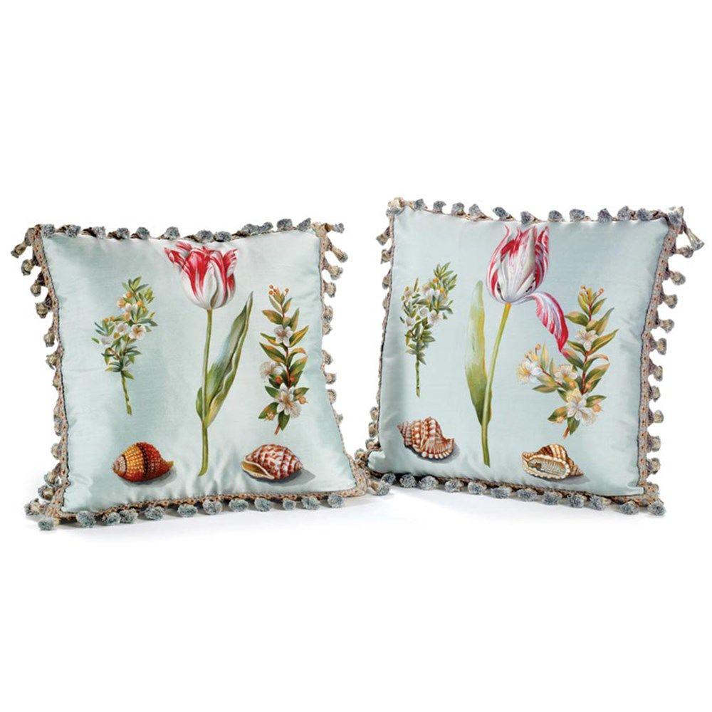 Tulip and shell silk pillows palm beach pinterest pillows