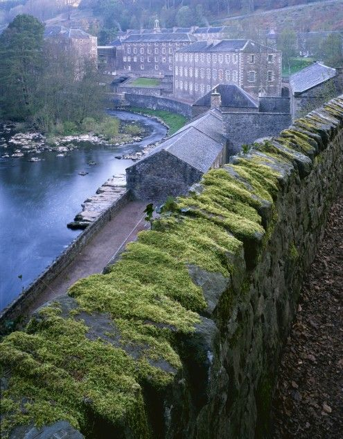 New Lanark Mill, Scotland! I was here in 2006. Wonderful place, wonderful tour, wonderful history of a wonderful idea! I saw a red fox across the river as I hiked along but only managed to get a reddish blur w/the disposable camera. --Kre
