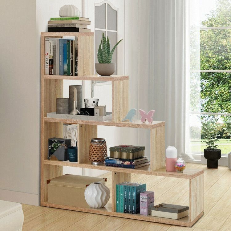 6 Cubes Ladder Shelf Corner Bookshelf Storage Bookcase 1000 In 2020 Bookshelf Storage Bookcase Storage Corner Bookshelves
