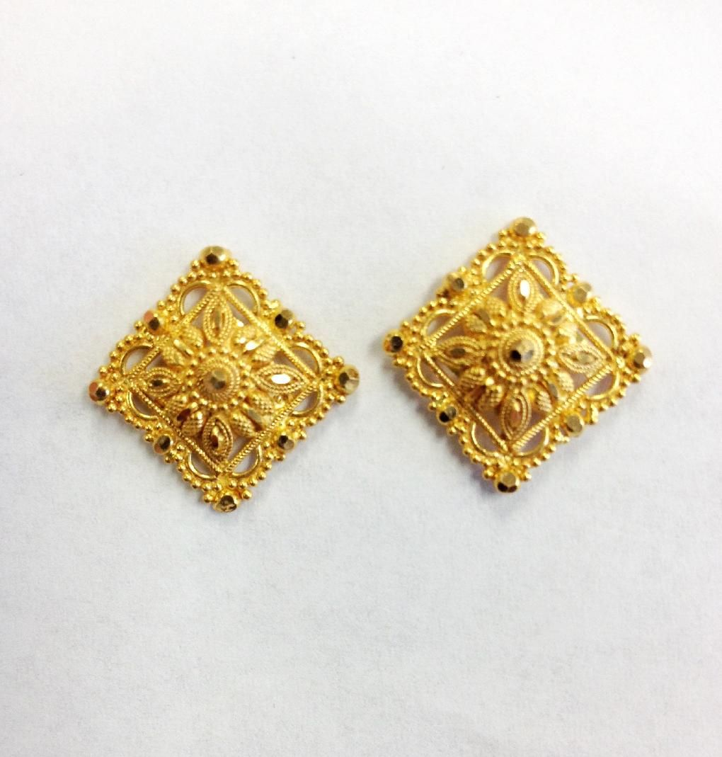 earrings march link chain jewellery d taula gold in earring yellow
