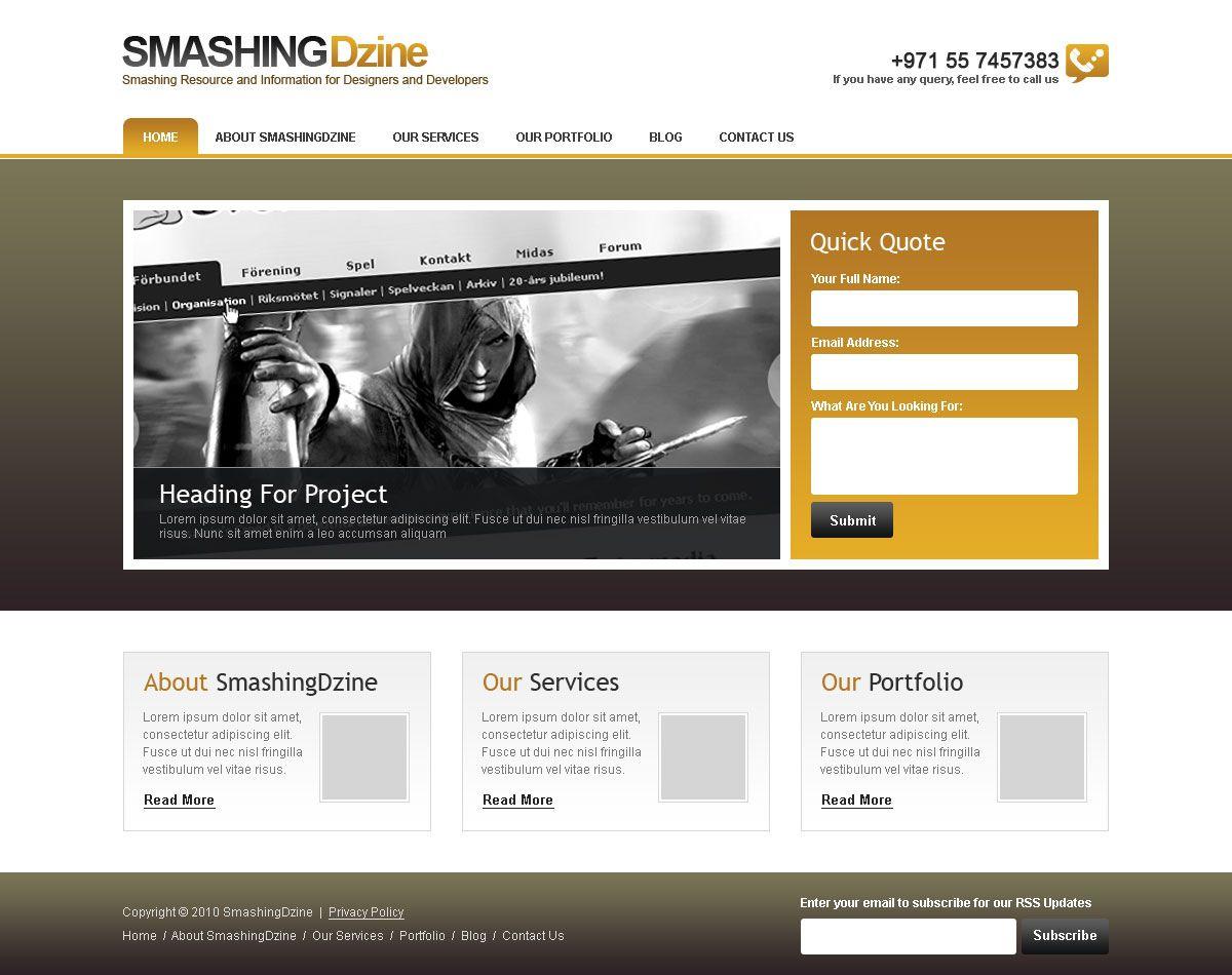 Create Web Design In Photoshop Tutorial