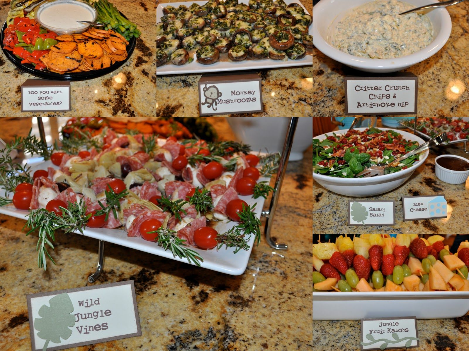 Jungle Theme Foods