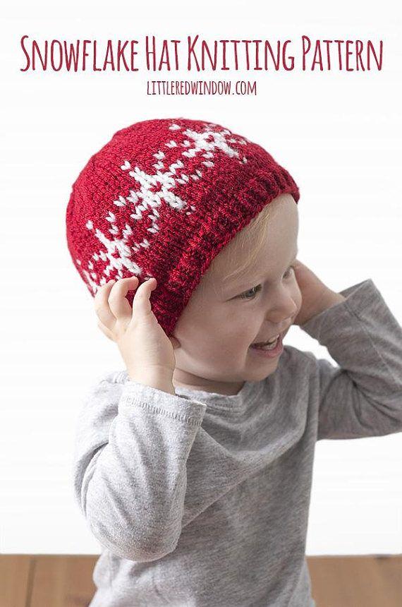 Baby Snowflake Hat Knitting Pattern Snowflakes Pattern Winter