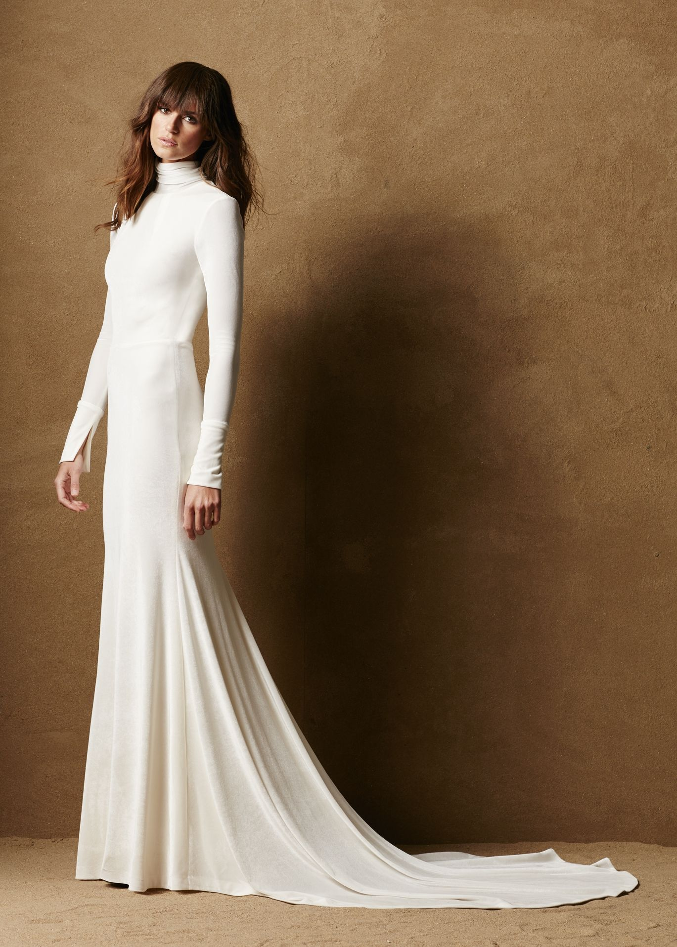 Stretch Velvet Fitted Gown 4 Velvet Wedding Dress Wedding Dresses White Velvet Dress [ 1916 x 1369 Pixel ]