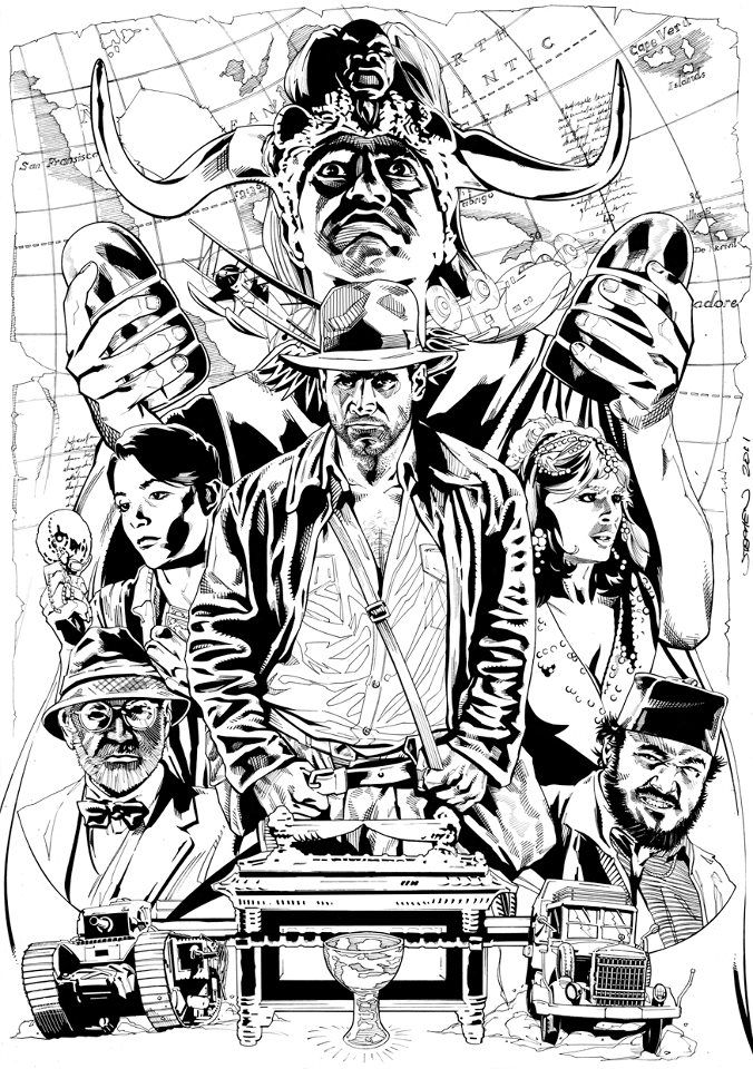 Indiana Jones Co By Stephen Mooney Indiana Jones Henry Jones Jr Artwork