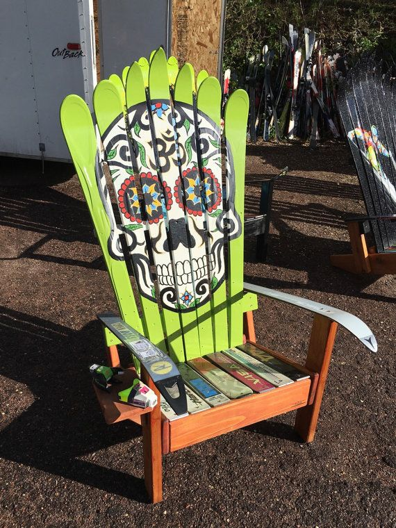 Mexican Sugar Skull Day Of The Dead Ski Chair Hans